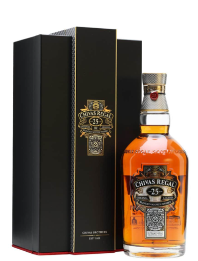 CHIVAS REGAL AGED 25 YEARS BLENDED SCOTCH WHISKY 芝華士富豪25年威士忌-  700mL